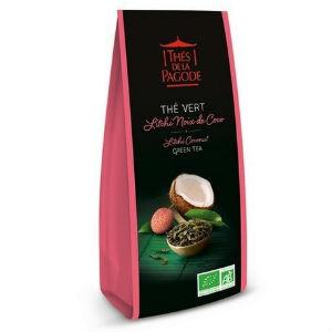 the-vert-litchi-noix-de-coco-thés de la pagode