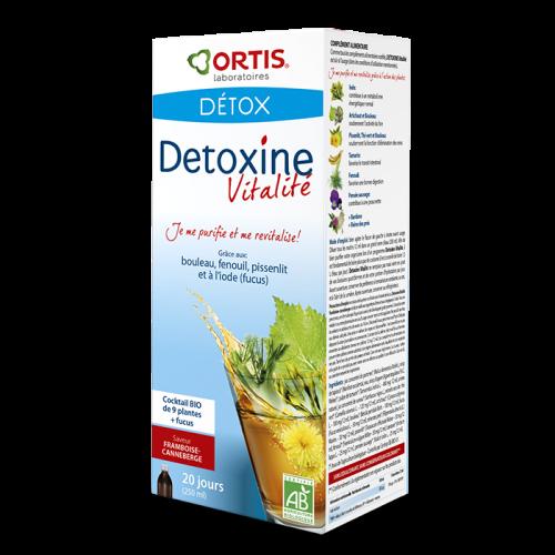 Détoxine vitalité - framboise - canneberge - Ortis